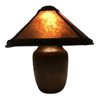 Early 20th c Dirk Van Erp Copper Hammered Copper Arts & Crafts Table Lamp