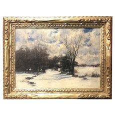 John Appleton Brown Oil Painting of a Winter Landscape
