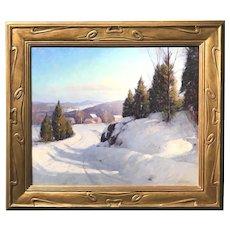 Allen Dean Cochran Oil Painting of a Winter Landscape