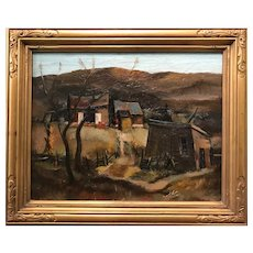 George Joseph Mess Landscape Oil Painting, Ever So Humble