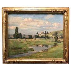Freeman Willis Simmons Oil Painting of a European Landscape