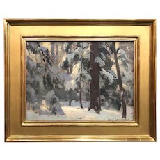 Cecil Chichester Landscape Oil Painting, Winter Woods