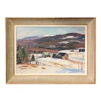 Aldro Thompson Hibbard Winter Landscape Oil Painting, Vermont