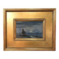 William R. Davis Winter Landscape Oil Painting, Silent Winter Morning