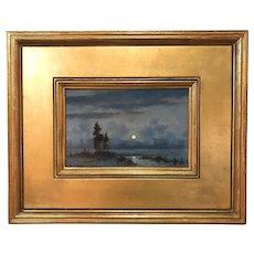 William R. Davis Winter Landscape Oil Painting, Silent Winter Morning