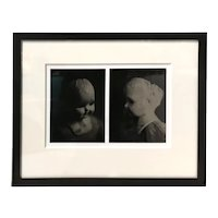 Mark Elson Contemporary Pair of Framed Tintype Photographs, Doll's Head, Two Views