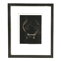 Mark Elson Contemporary Framed Tintype Photograph, Antlers