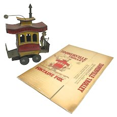 Nifty Play Toys Wind Up Tin Toonerville Trolley circa 1922 with Original Box