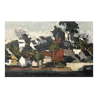 Alfred Chadbourn Impressionist Oil Painting, Yarmouth Village, Maine