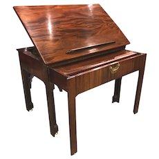 English Chippendale Mahogany Architect's Desk or Design Table, circa 1780
