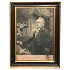 Alexander Hamilton Stipple Engraving / Print by Archibald Robertson/William Rollinson circa 1804