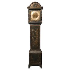 English Japanned Tall Clock signed Thomas Baker, Malls, circa 1765