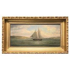 John White Allen Scott Marine Oil Painting, Fox Island, Coast of Maine (Vinalhaven) 1876