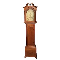 Benjamin Clark Gilman Federal Period Birch Tall Case Clock, Exeter NH
