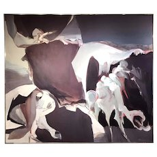 Richard Lytle Large Abstract Oil Painting, Anticipation 1962