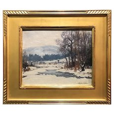 Ronau William Woiceske Winter Landscape Oil Painting, After The Snow Storm