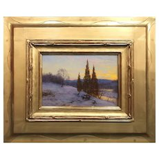 Walter Launt Palmer Landscape Oil Painting, Winter Sunset