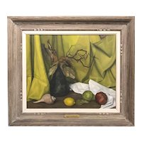 Luigi Lucioni Still Life Oil Painting, Dominant Colors 1956