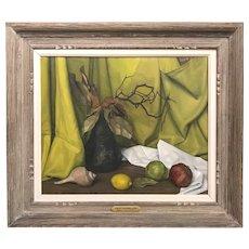Luigi Lucioni Still Life Oil Painting, Dominant Colors 1956