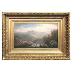 John White Allen Scott Landscape Oil Painting of Mt. Washington, Wildcat Brook, Jackson NH