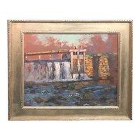 Alson Skinner Clark Landscape Oil Painting, Old Mill Falls