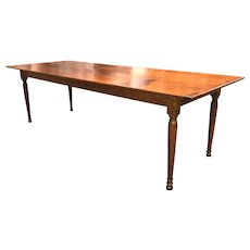 Quality Bench Made Tiger Maple Harvest or Farm Table