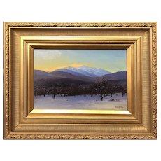 Erik Koeppel NH Landscape Oil Painting, Alpenglow on Mt. Washington