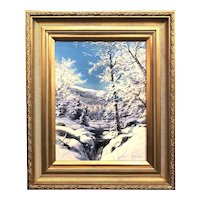 Erik Koeppel NH Landscape Oil Painting, Winter in the White Mountains