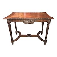 18th c French Carved Table in Fruitwood
