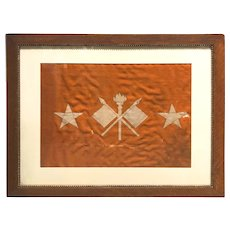 Framed WWI US Army Signal Corps Command Flag for Lieutenant General