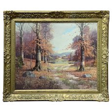 Orin Draver Autumn Landscape Oil Painting, November Day