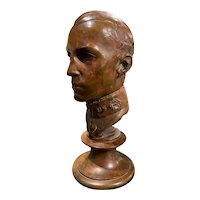 Gerome Brush Cast Bronze Bust of a Military Officer