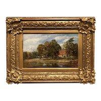 Frederick James Knowles Landscape Oil Painting, Harborne House Birmingham, England
