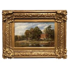 Frederick James Knowles Landscape Oil Painting, Harborne House Birmingham, England