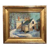 Jose Enrique Guerrero Impressionist Oil Painting of the Israel Putnam House in Danvers, MA
