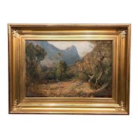 Early 20th Century Frederick Ballard Williams Mountain Landscape Oil Painting