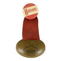 Antique Harvard College Football Pin Badge circa 1910