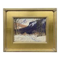 Joseph Harry Wheater Oil Painting of a NH Winter Landscape, Joseph White Collection