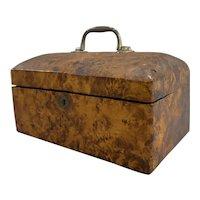 19th Century Primitive Burl Dometop Box