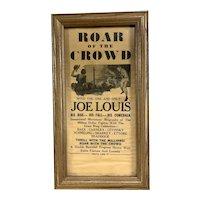 Vintage Joe Louis Boxing Movie Framed Theatre Advertising Poster