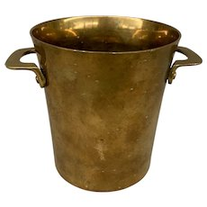 Vintage Copper Handled Ice Bucket or Wine Cooler