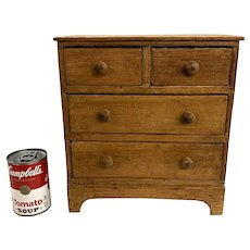 Miniature or Salesman Sample Pine Chest of Drawers