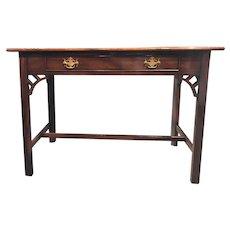 Kittinger Williamsburg Adaptation Traditional Mahogany One Drawer Hall Console or Writing Table