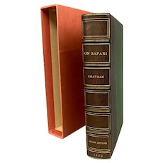 """Abel Chapman """"On Safari"""" First Edition Book 1908 with Lucien Antoine Binding"""