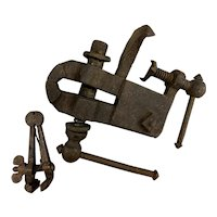 Pair of 19th c Cast Iron or Metal Gunsmith Vises