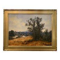 Stephen Previte Country Landscape Oil Painting with Barn
