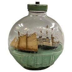 Three Ships in a 1933 Chicago's World Fair Souvenir Bottle