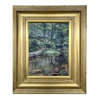 Queenie Stein Landscape Oil Painting of a Forest Scene