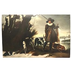 After Jan Wildens, Landscape Oil Painting of a Hunter with Dogs