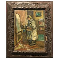 Benjamin Kopman Impressionist Oil Painting, Old Artist 1952